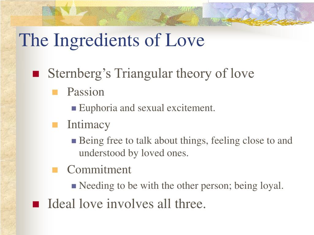 The Ingredients of Love