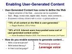 enabling user generated content
