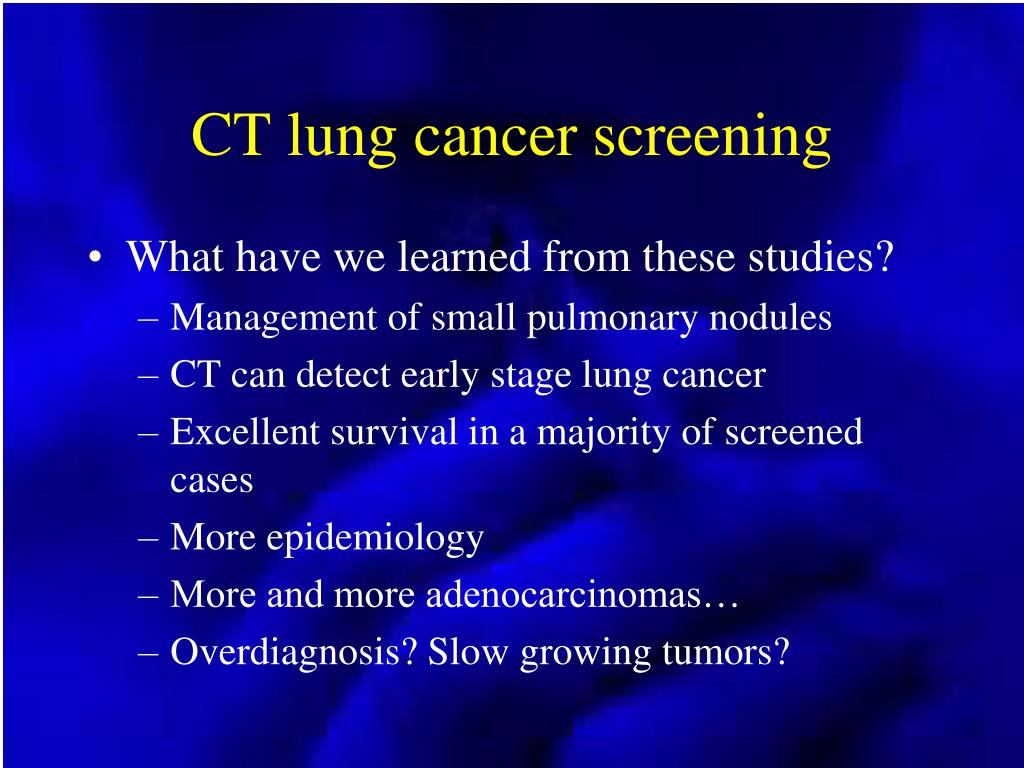 CT lung cancer screening