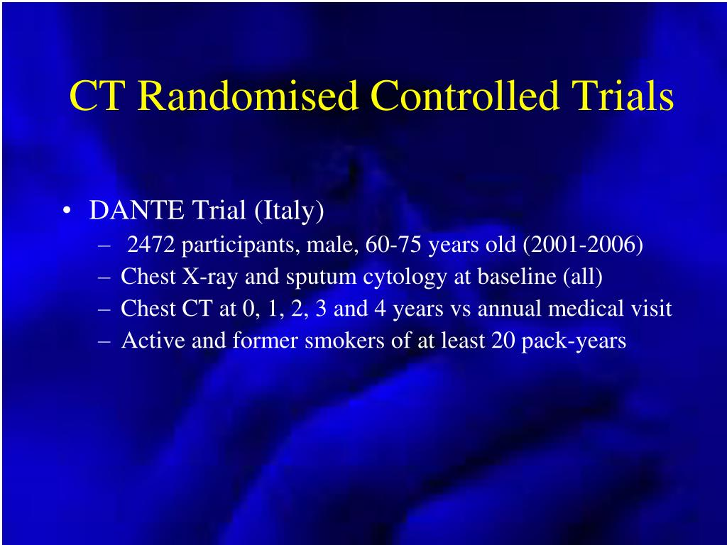 CT Randomised Controlled Trials