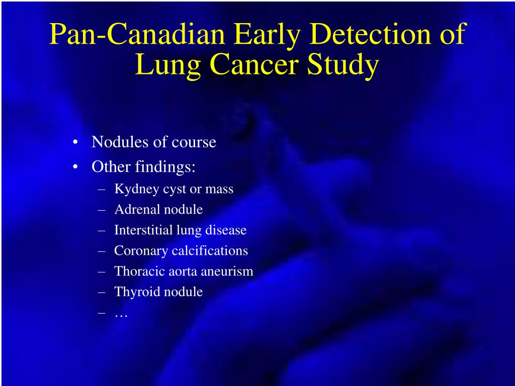 Pan-Canadian Early Detection of