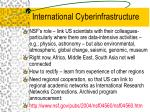 international cyberinfrastructure