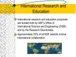 international research and education