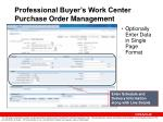 professional buyer s work center purchase order management20