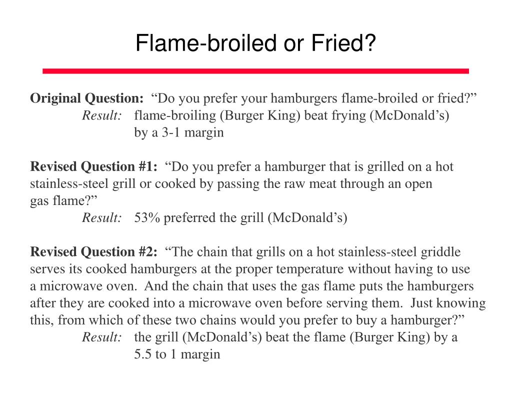 Flame-broiled or Fried?