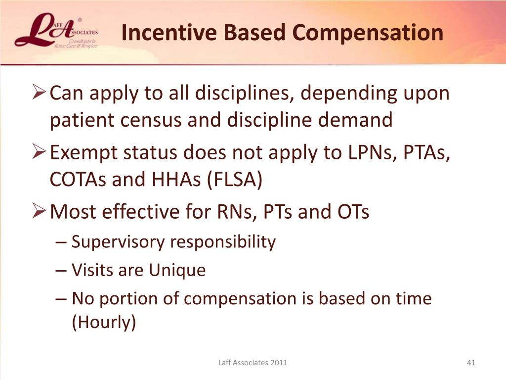 Incentive Based Compensation