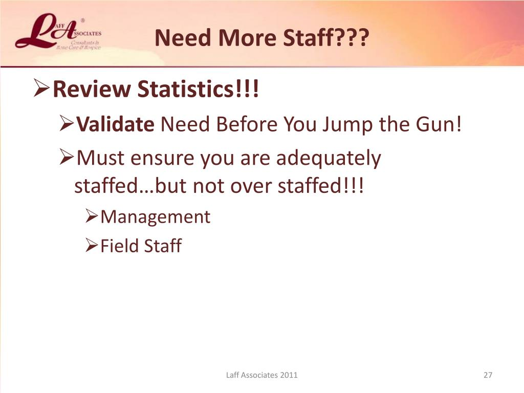 Need More Staff???