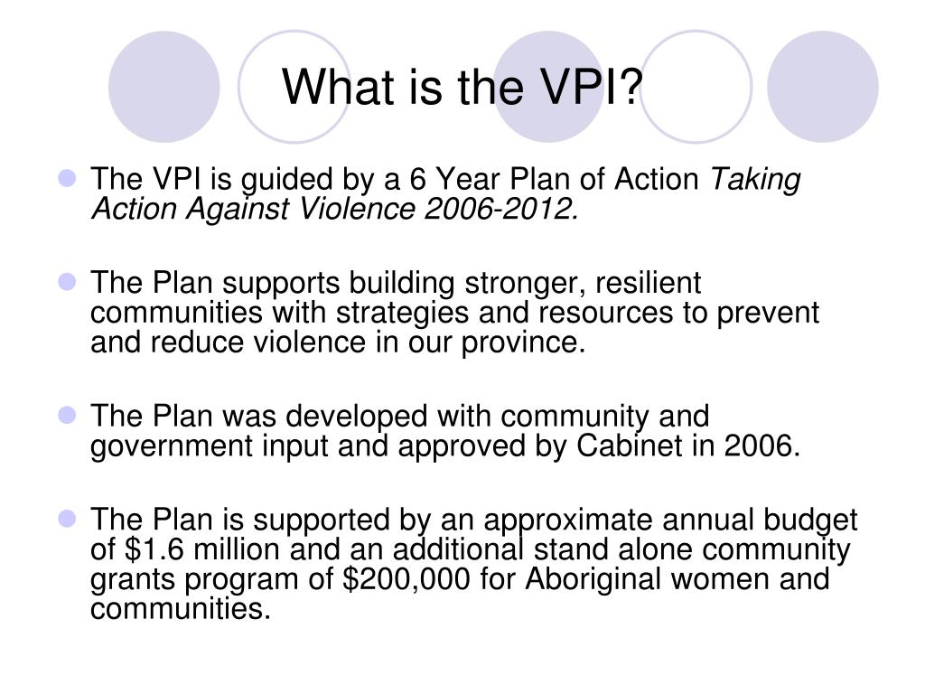 What is the VPI?