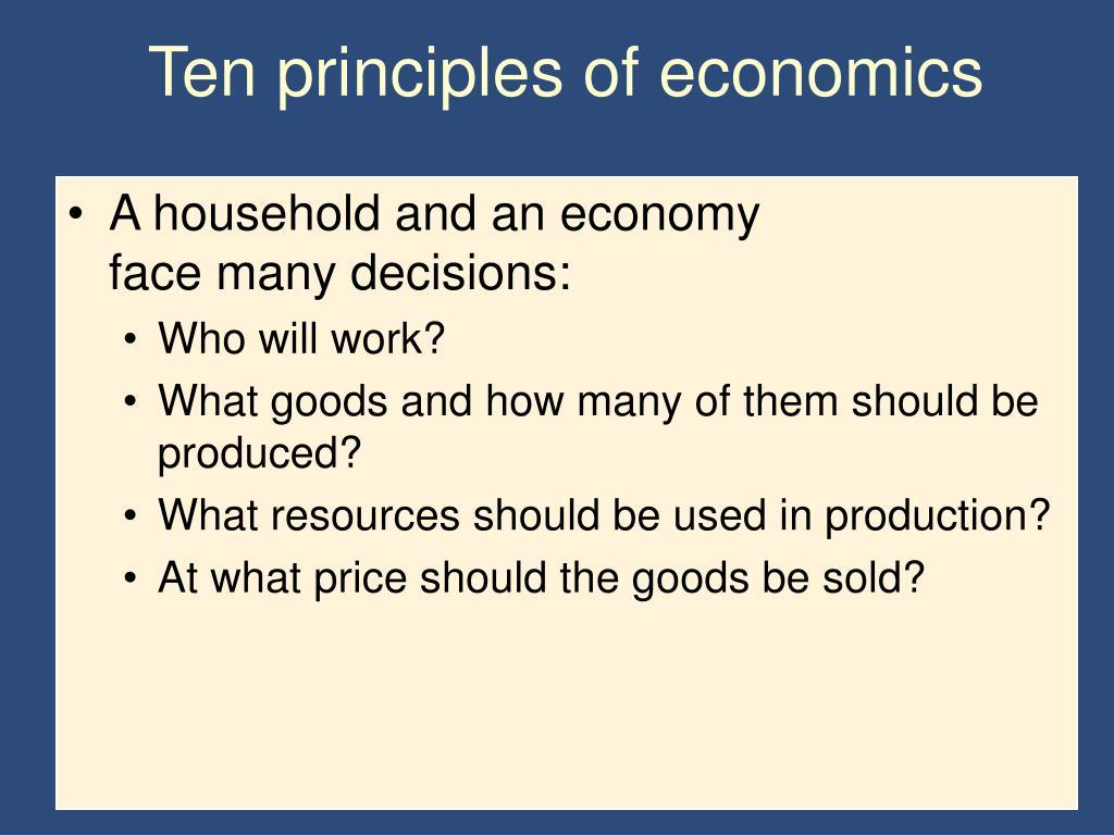 Ten principles of economics