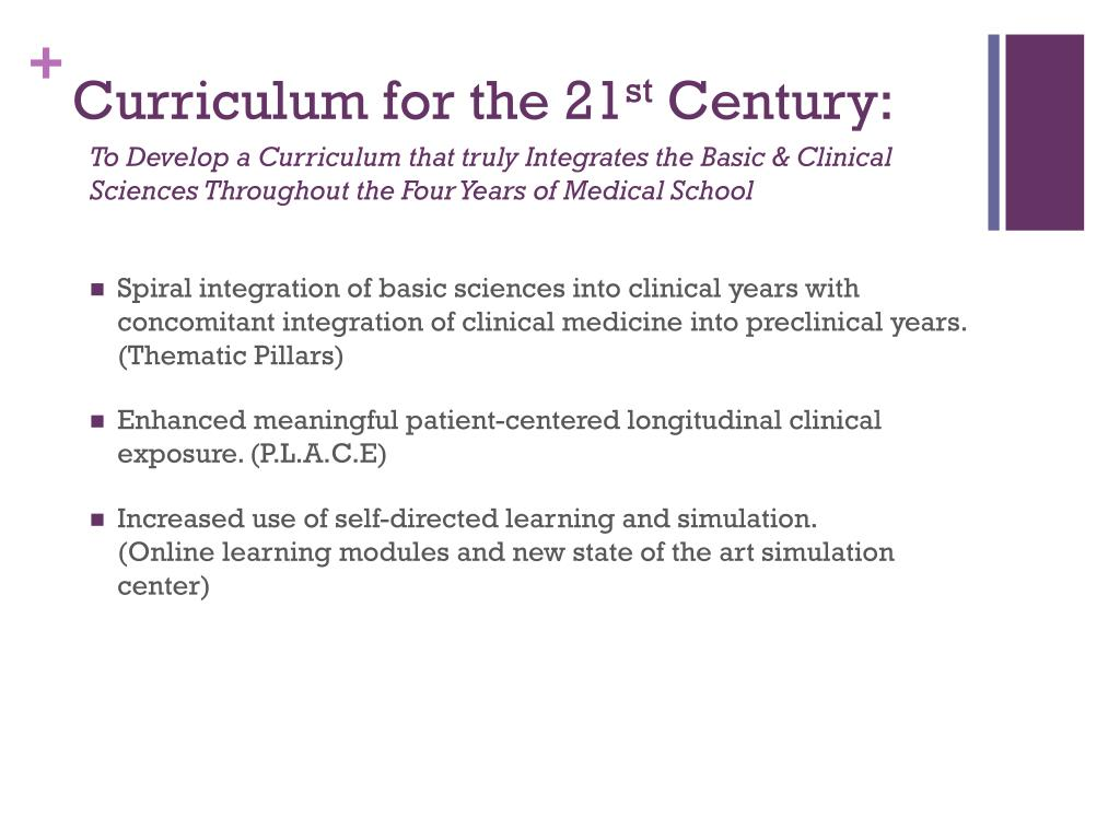 Curriculum for the 21