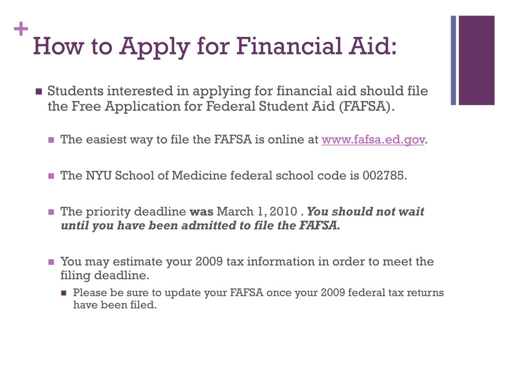 How to Apply for Financial Aid: