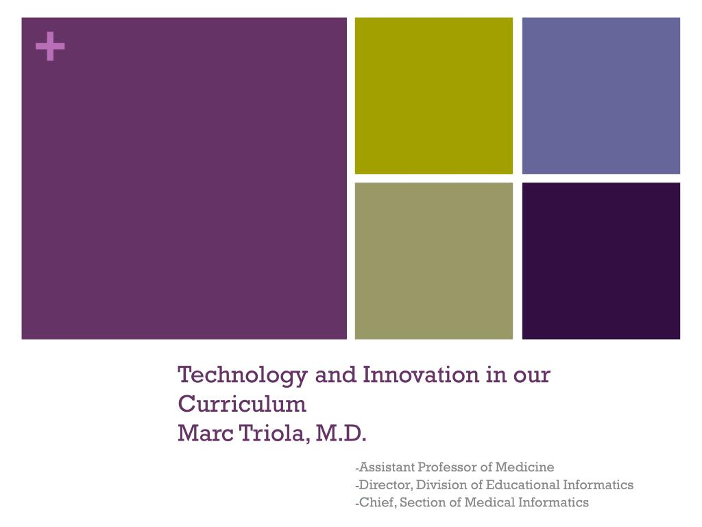 Technology and Innovation in our Curriculum