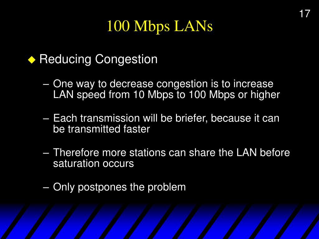 100 Mbps LANs