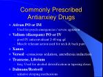 commonly prescribed antianxiey drugs