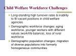 child welfare workforce challenges
