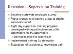 retention supervision training