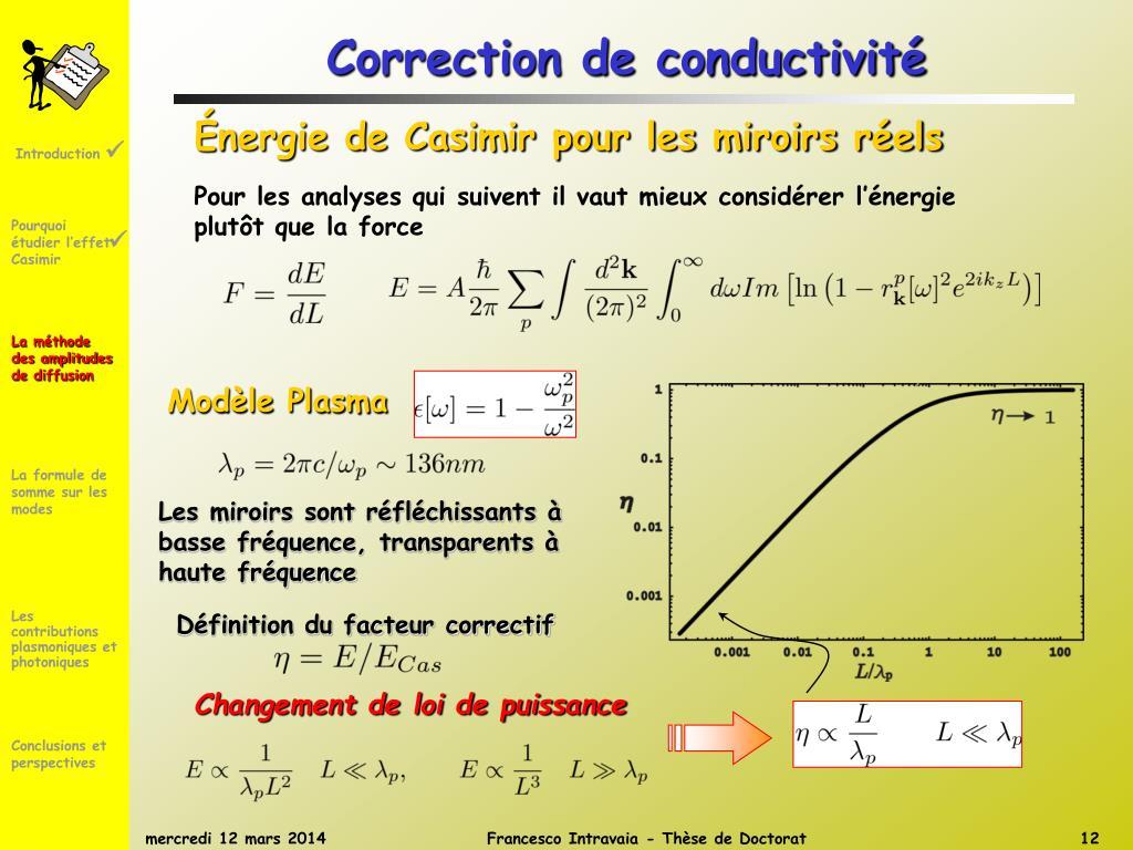 Correction de conductivité
