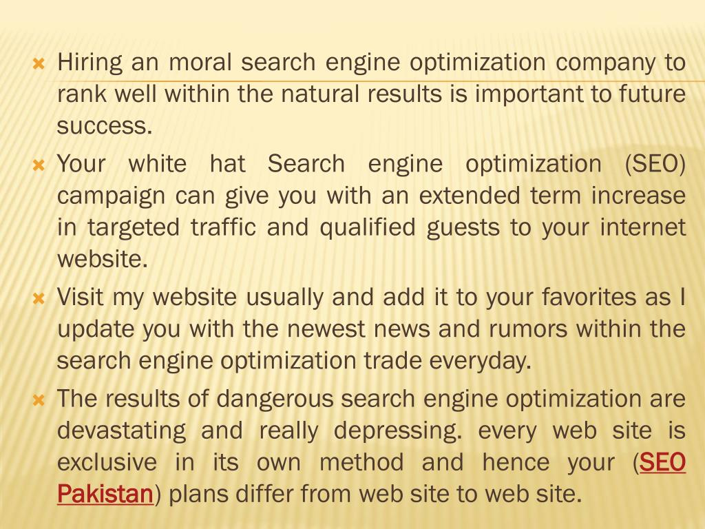 Hiring an moral search engine optimization company to rank well within the natural results is important to future success.
