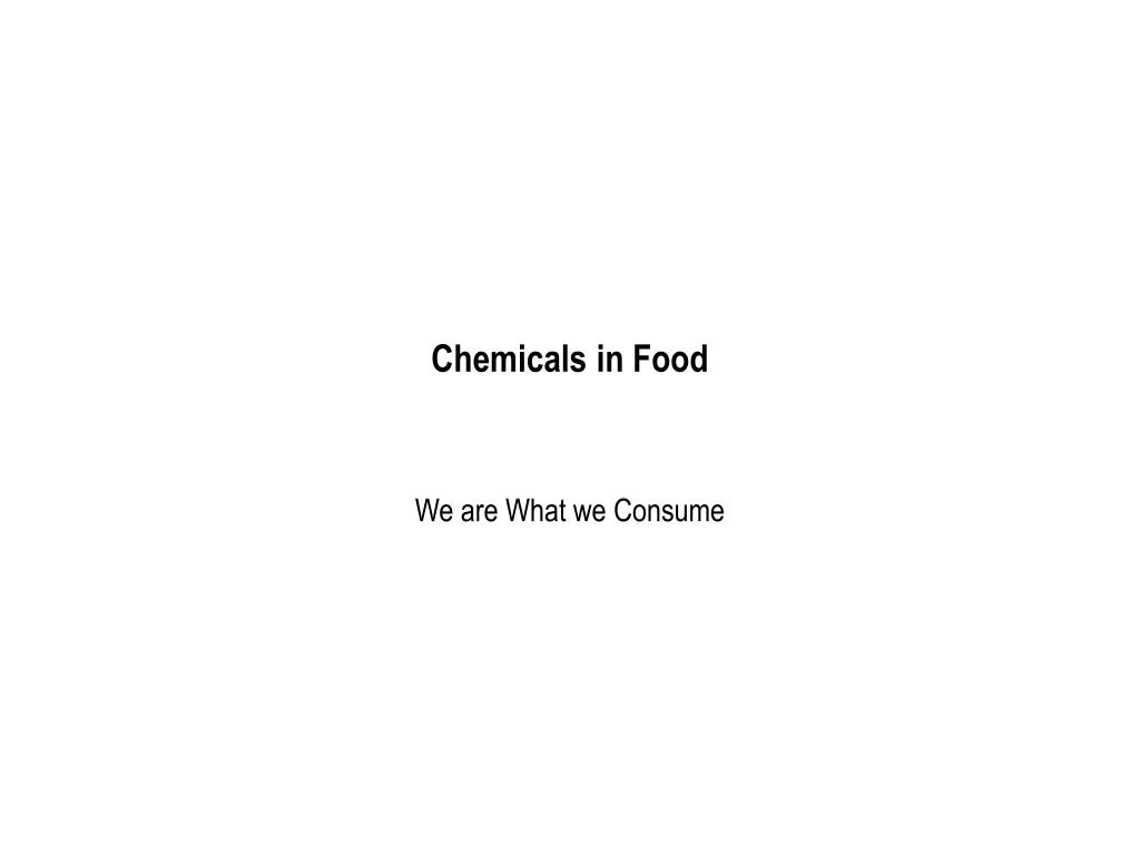 chemicals in food l.