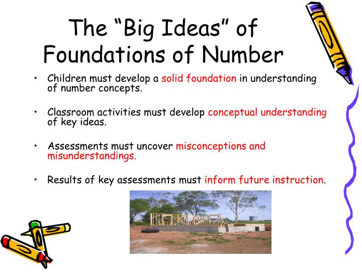 The big ideas of foundations of number