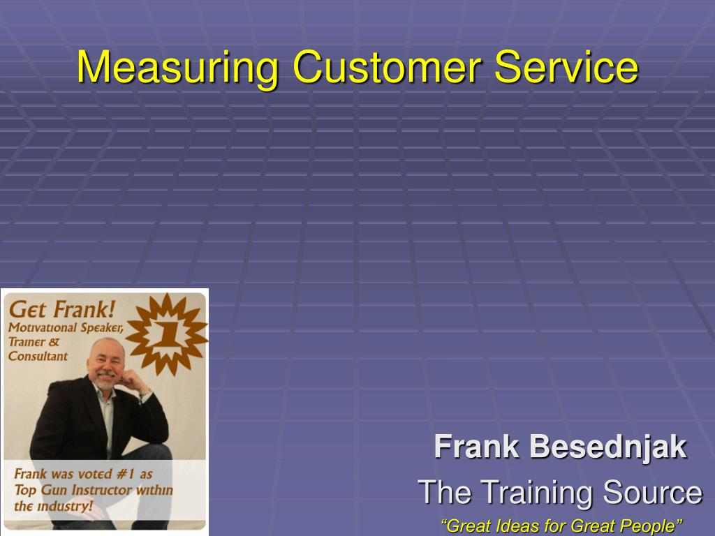 measuring customer service l.