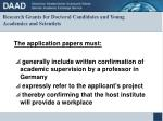 research grants for doctoral candidates and young academics and scientists10