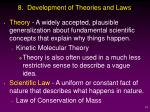8 development of theories and laws