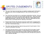 ofsted judgements