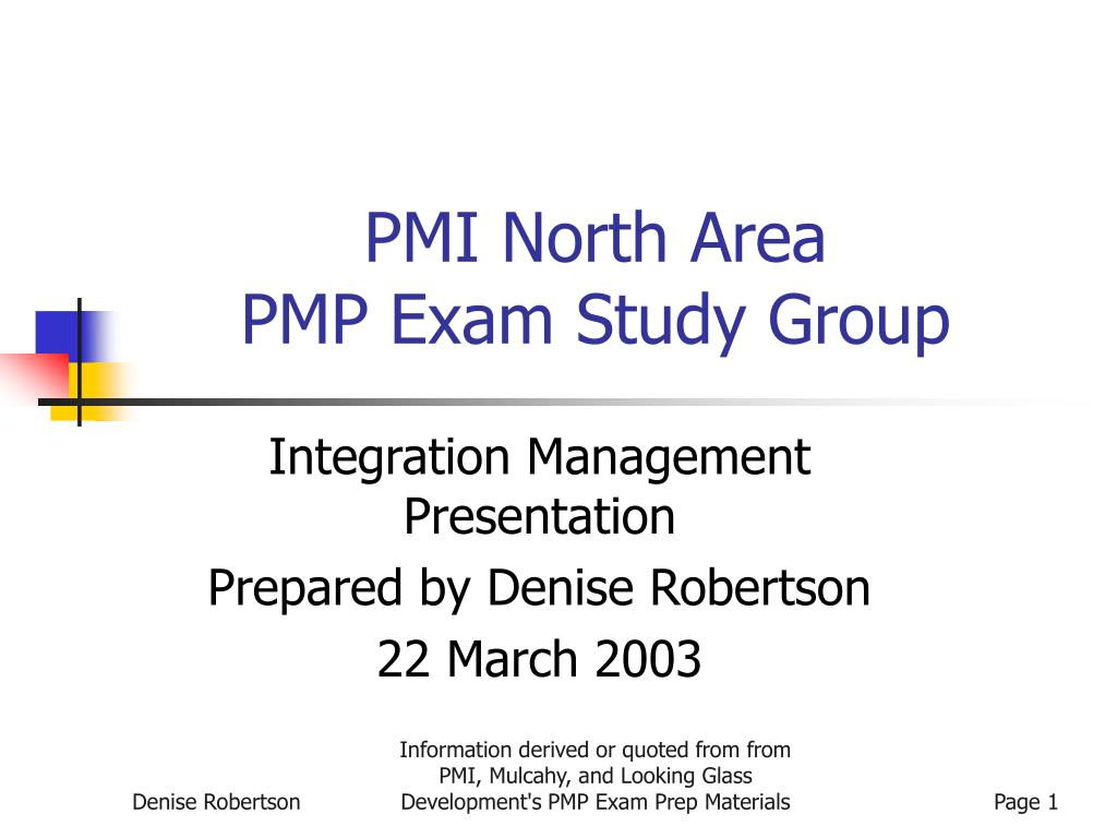 Ppt Pmi North Area Pmp Exam Study Group Powerpoint Presentation
