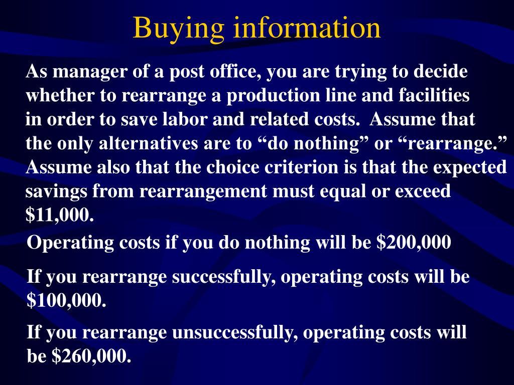 Buying information