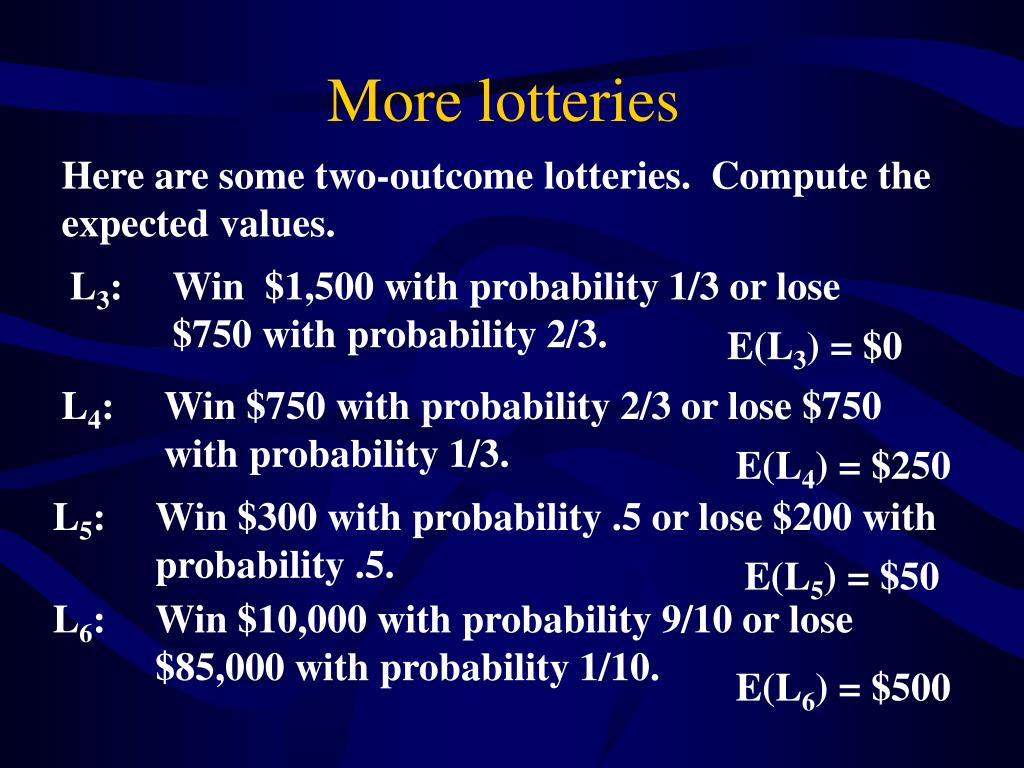 More lotteries