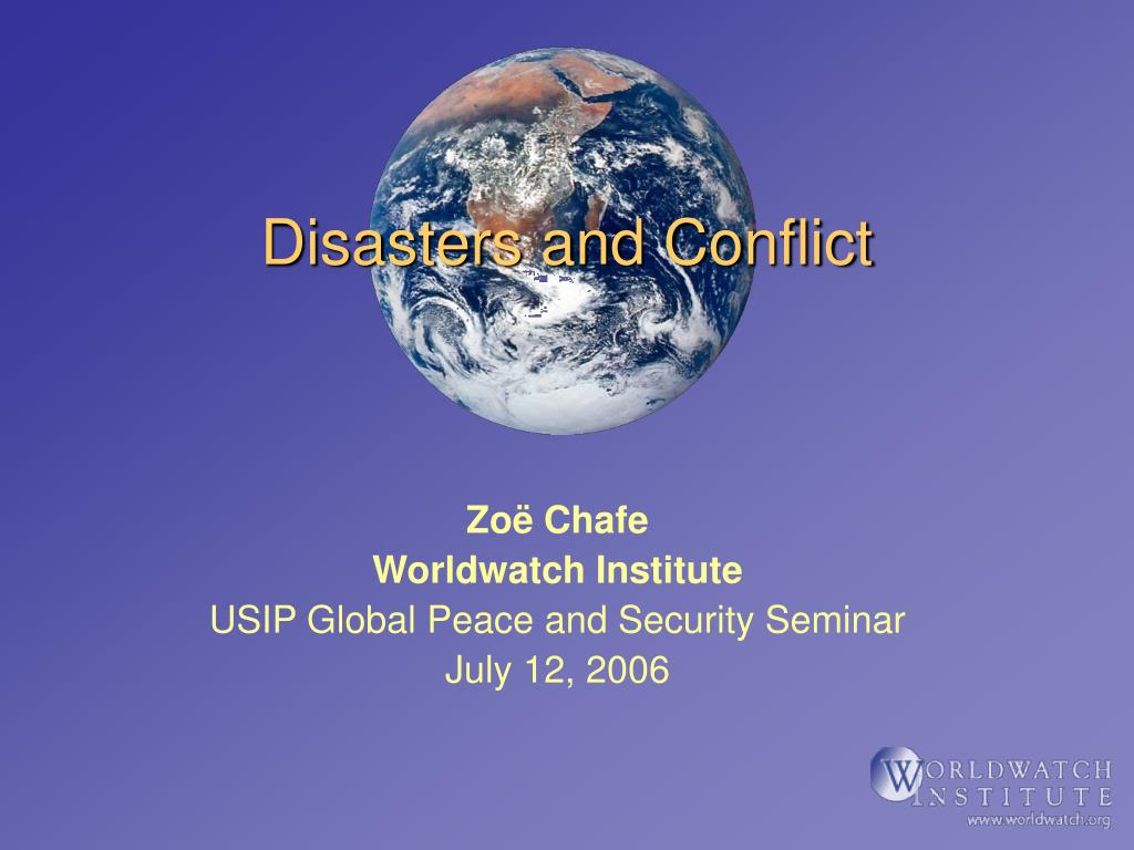 disasters and conflict l.