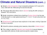 climate and natural disasters cont