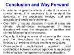 conclusion and way forward