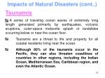 impacts of natural disasters cont15