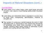 impacts of natural disasters cont21