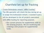chartfield set up for tracking