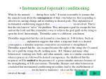 instrumental operant conditioning