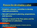 process for developing a plan