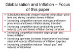 globalisation and inflation focus of this paper