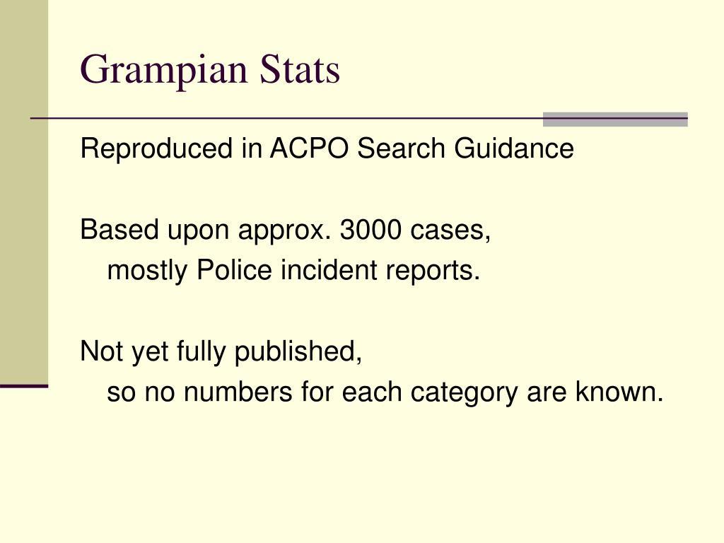 Grampian Stats