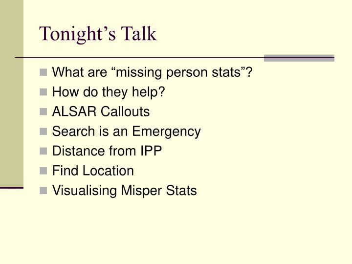 Tonight s talk
