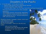 disasters in the pacific
