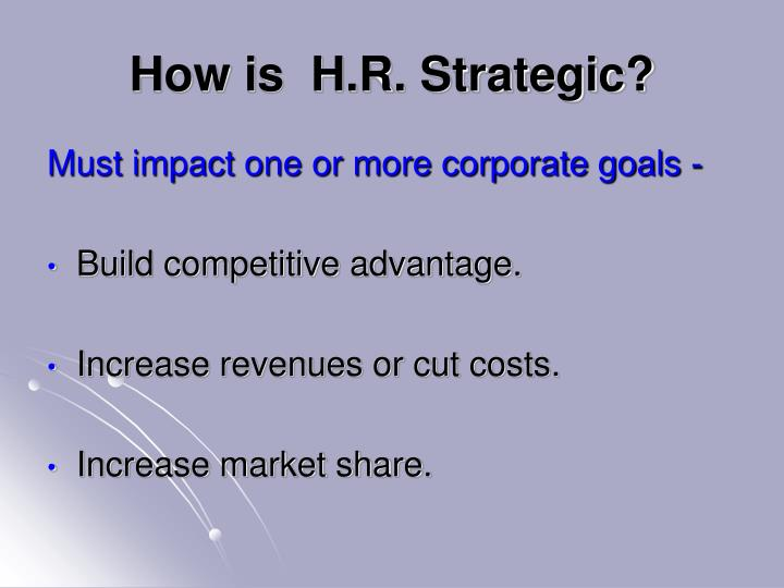 How is h r strategic