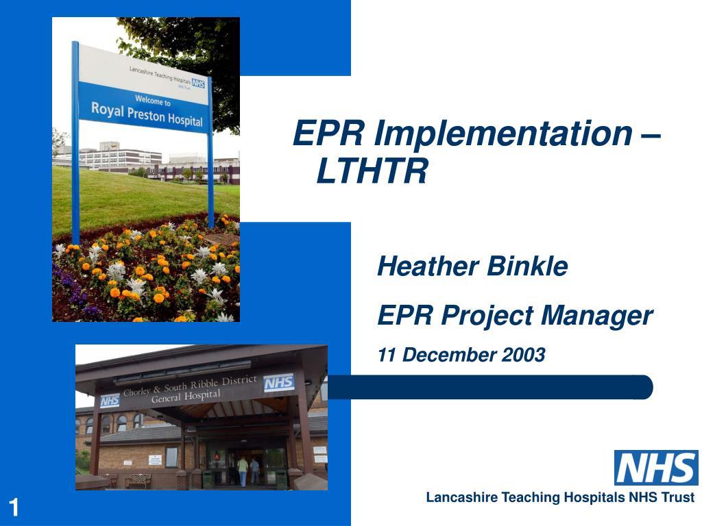 epr implementation lthtr