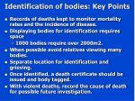 identification of bodies key points