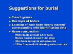suggestions for burial
