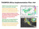 thorpex africa implementation plan pdp