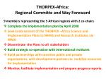thorpex africa regional committe and way foreward