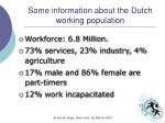 some information about the dutch working population